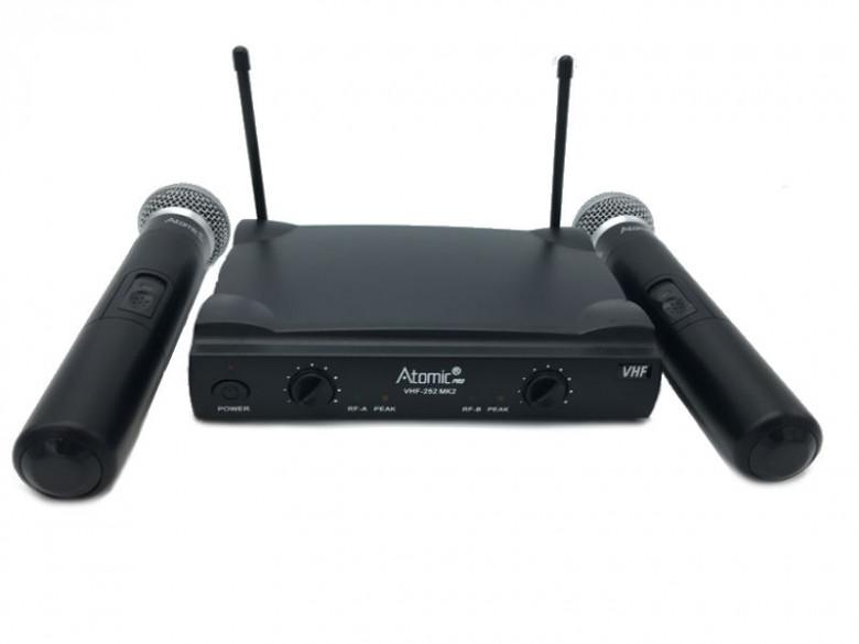 Atomic4Dj VHF 252 MKII Doppio Radiomicrofono Wireless Gelato