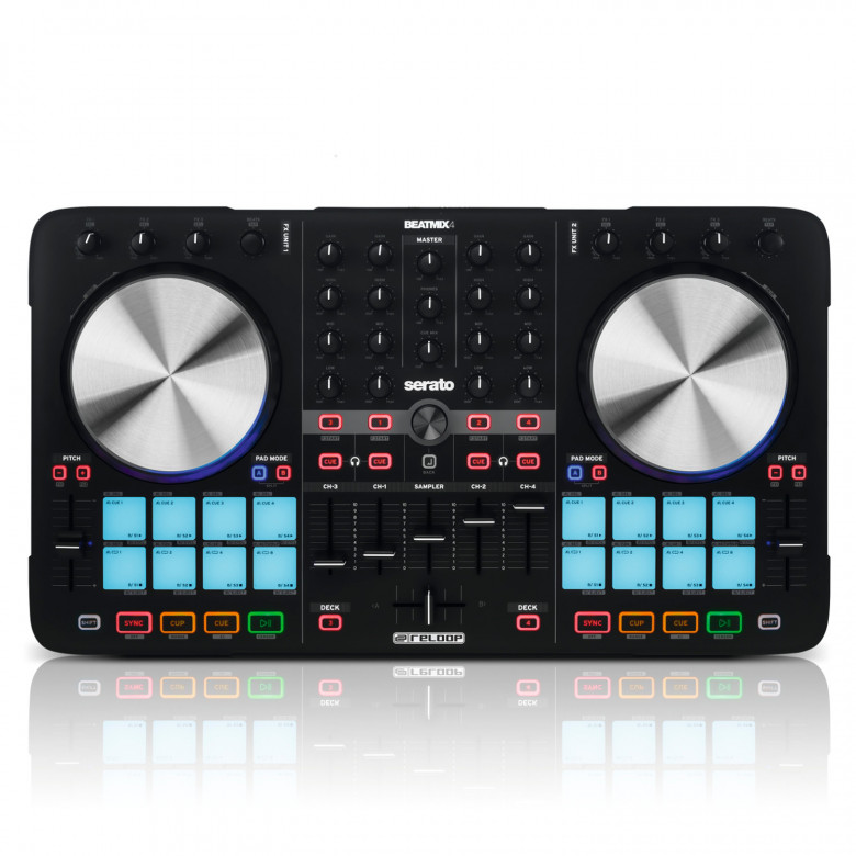 Reloop BeatMix4 Mk2 Controller Midi Usb Serato DJ
