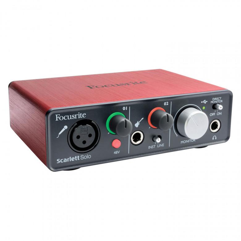 Focusrite Scarlett Solo USB 2Gen Scheda Audio