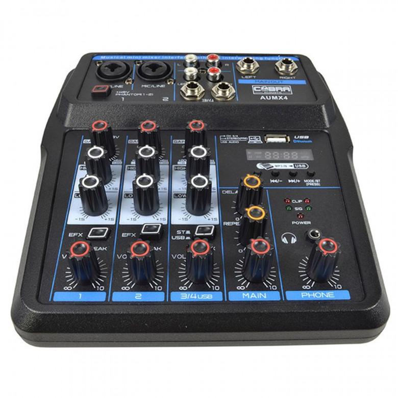 Mixer 4 Canali Bluetooth USB