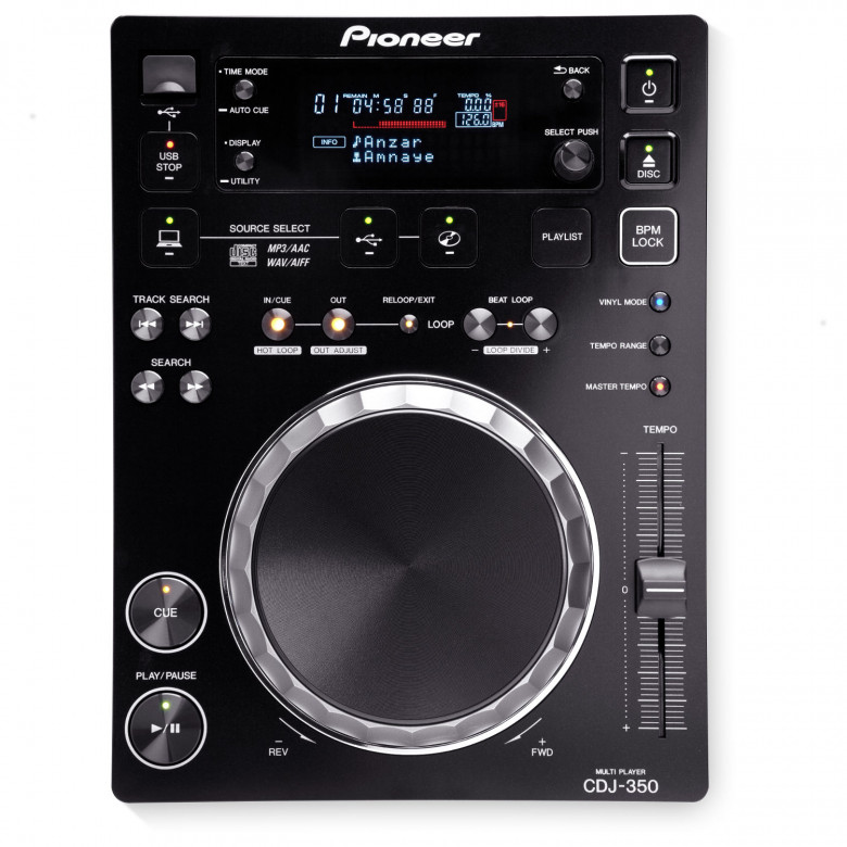 Lettore CD Pioneer CDJ-350 USB Player Nero