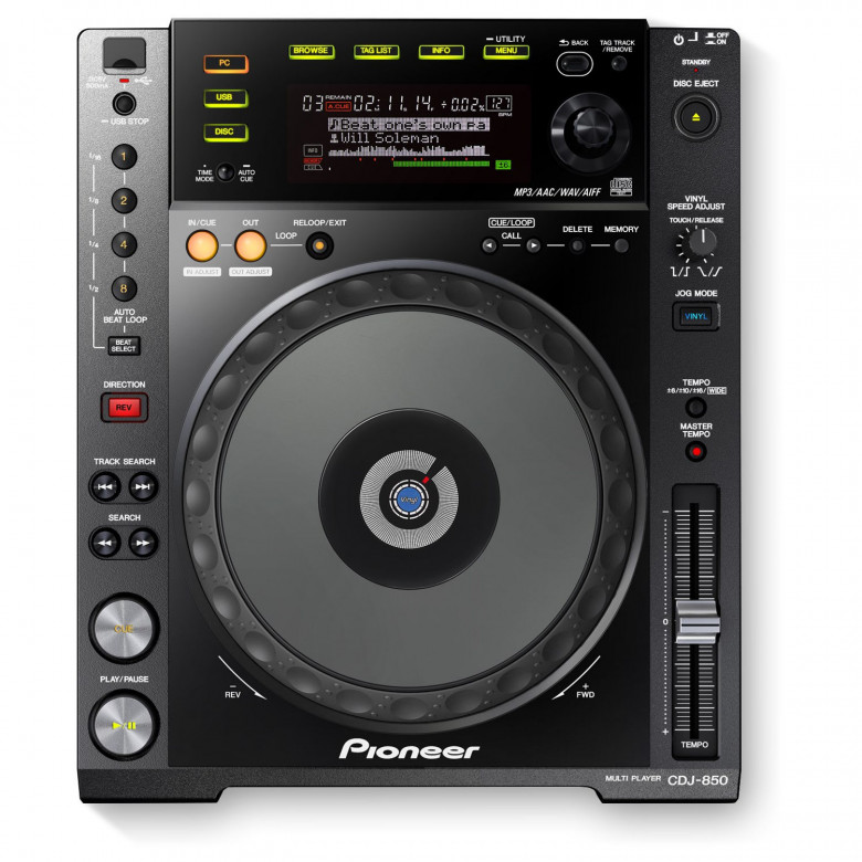 Lettore CD Pioneer CDJ-850 USB Player Nero