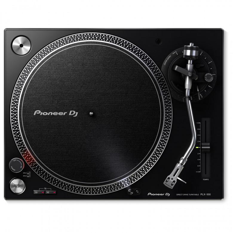 Giradischi a Trazione Diretta per DJ Pioneer PLX-500 Nero