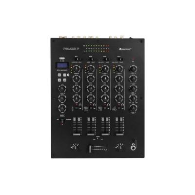 Omnitronic PM-422P - Mixer Dj 4 Canali con  USB Player e Bluetooth