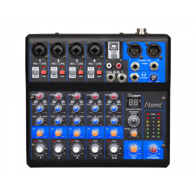 Atomic Mix-S 401 Mixer 4 Canali Mono - 1 Canale Stereo