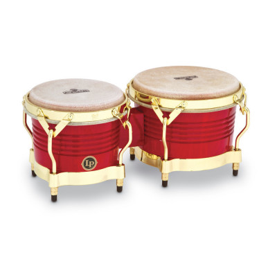 Bongos Matador Wood, Red,Latin Percussion,Latin Percussion