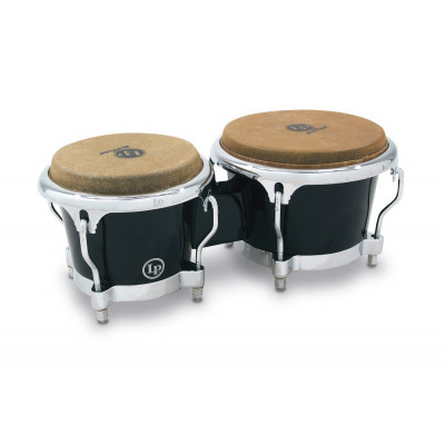 Bongos Fiberglass, Black,Latin Percussion,Latin Percussion