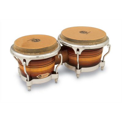 Bongos Generation II Wood, Dark Wood, Chrome HW,Latin Percussion,Latin Percussion