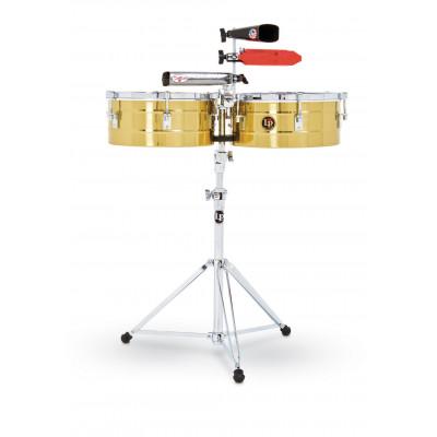 """Timbali Tito Puente Solid Brass, 13""""/14"""",Latin Percussion,Latin Percussion"""