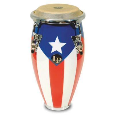 Congas Mini Tunable, Puerto Rican Flag,Latin Percussion,Latin Percussion