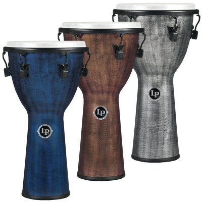 Djembe World Beat FX Mechanically Tuned, Blue,Latin Percussion,Latin Percussion
