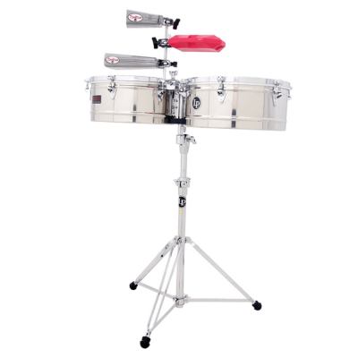 "Timbali Prestige Stainless Steel, 13""/14"",Latin Percussion,Latin Percussion"