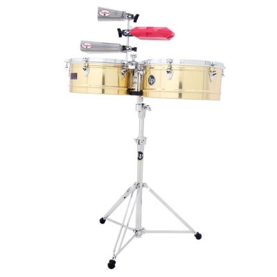 """Timbali Prestige Solid Brass, 13""""/14"""",Latin Percussion,Latin Percussion"""