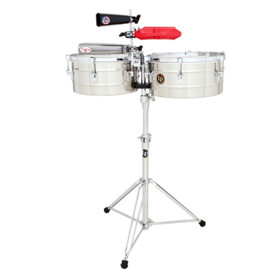 "Timbali Tito Puente Stainless Steel, 12""/13"",Latin Percussion,Latin Percussion"