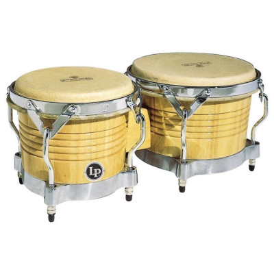 Bongos Matador Wood, Natural,Latin Percussion,Latin Percussion