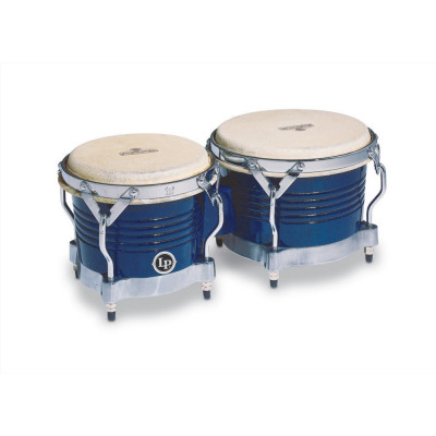 Bongos Matador Wood, Blue,Latin Percussion,Latin Percussion