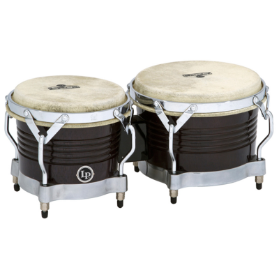 Bongos Matador Wood, Black,Latin Percussion,Latin Percussion