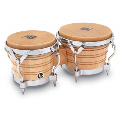 Bongos Generation II Wood, Natural,Latin Percussion,Latin Percussion