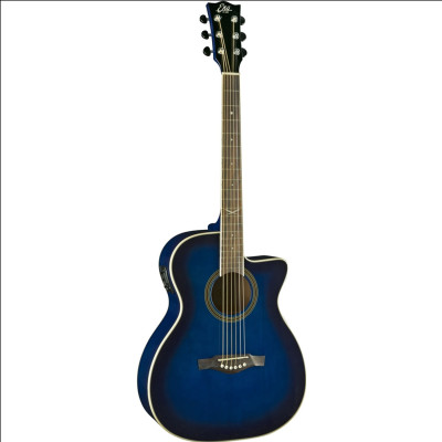 Chitarra acustica Eko Next 018 Eq Cw Spalla mancante Blue Sunburst