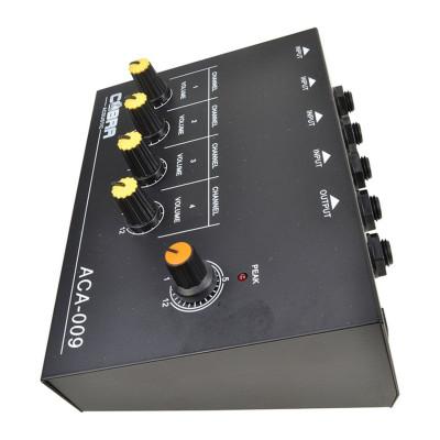 MicroMixer 4 Canali Mono - 1 uscita - Alimentazione Batteria/Rete