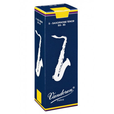 Vandoren Ance per Sax Tenore Si b, Traditional, Confezione da 5, Spessore 5.0