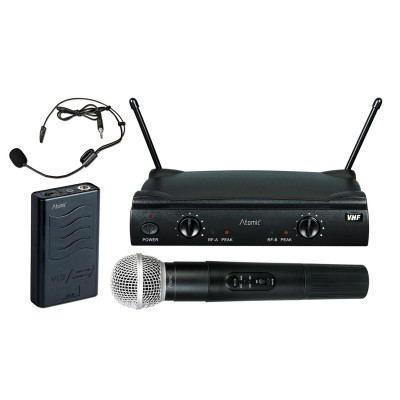 Atomic4Dj VHF 252C Radiomicrofono Combo Pack