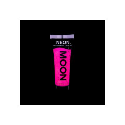 Gel Fluo Glitter per Viso e Corpo - Hot Pink