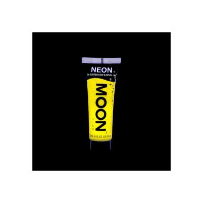 Gel Fluo Glitter per Viso e Corpo - Yellow
