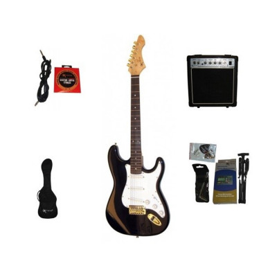 Guitar Pack Black EG100 Chitarra Elettrica e Amplificatore