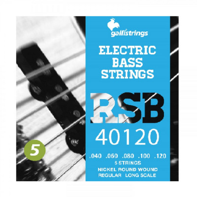Corde Basso Elettrico RSB40120 5 Corde Regular