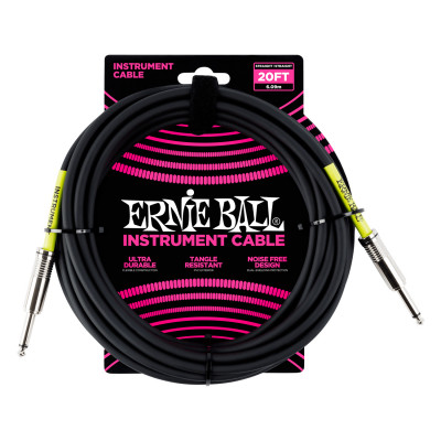 Ernie Ball 6046 Cavo Audio Jack/Jack Nero - 6 M