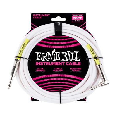 Ernie Ball 6047 Cavo Audio Jack/Jack Bianco - 6 M