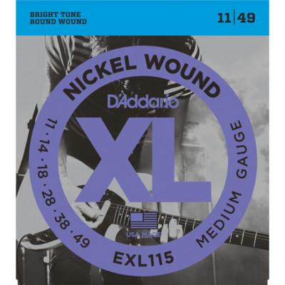 Corde Elettrica D'addario EXL115 Blues Rock 011-049