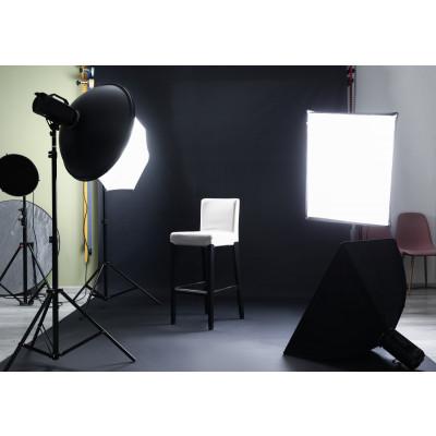 Atomic Pro Fondale fotografico professionale 6 x 8 m Nero