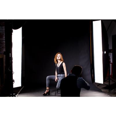 Atomic Pro Fondale fotografico professionale 6 x 6 m Nero