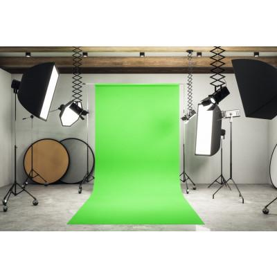 Atomic Pro Fondale fotografico Green Screen 3 x 9 m