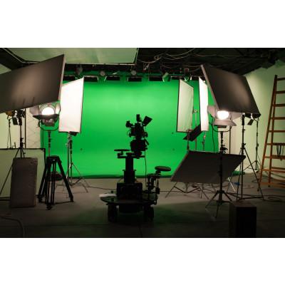 Atomic Pro Fondale fotografico verde Chroma Key 8 x 4 m