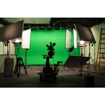 Atomic Pro Fondale fotografico Green Screen 4 x 3 m