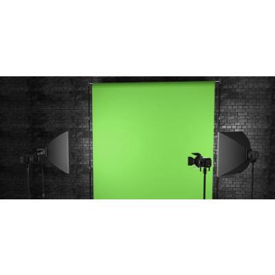 Atomic Pro Fondale fotografico Green Screen 3 x 3 m