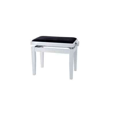 Panca per pianoforte Bianco Satinato Regolabile