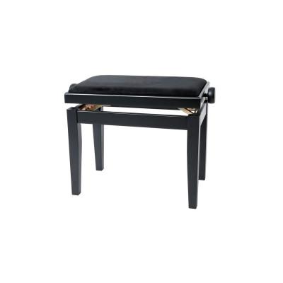 Panca per pianoforte Nero Satinato Regolabile