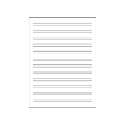 Quaderno Pentagrammato - 12 Righi Carta Musica
