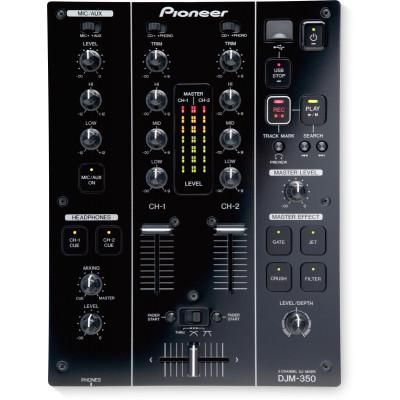 Pioneer DJM 350 Mixer 2 canali USB con effetti Nero