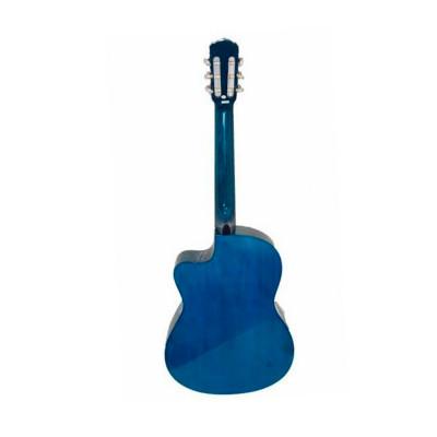 Olveira Chitarra Classica Elettrificata Blu con Spalla Mancante