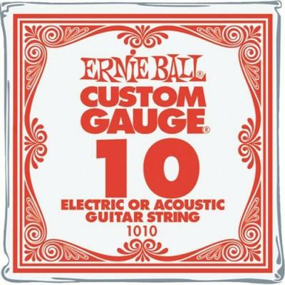 Corda Singola Chitarra Elettrica e Acustica - Mi Alto Ernie Ball 1010 Plain Steel .010