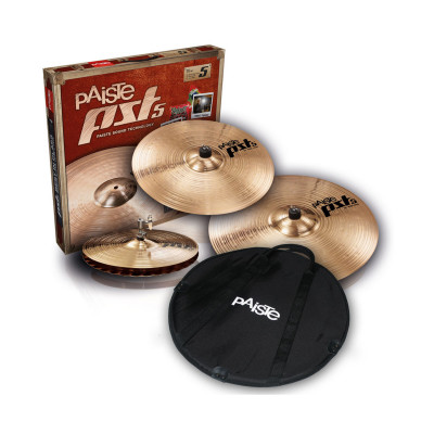 "Paiste PST5 Rock Set 14/16/20"" con Crash 18"" in omaggio"