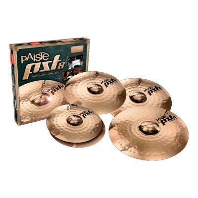"Paiste PST8 Rock Set Piatti per Batteria 14/16/20"" + Crash 18"""