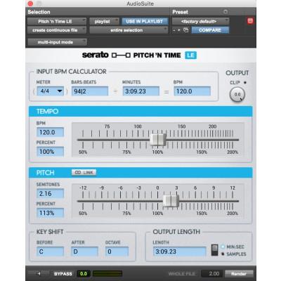 Pitch 'n Time LE 3.0 Software Time Compression per Logic Pro e ProTools - Codice