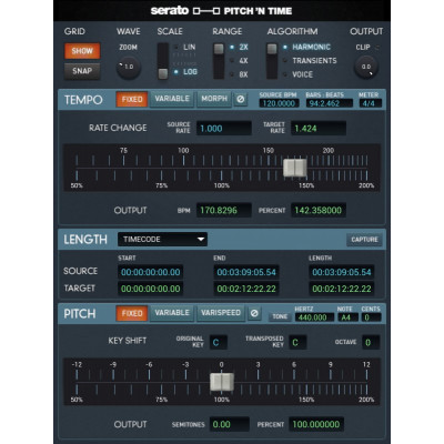 Pitch 'N Time Pro 3.0 Software Professionale per Pro Tools - Codice