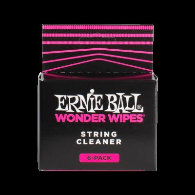 Ernie Ball Salviette String Cleaner per la pulizia delle corde (confezione da 6)